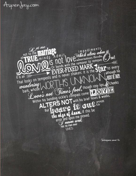 fbb98aab1efb11 Free Shakespeare Valentines Printable. Love