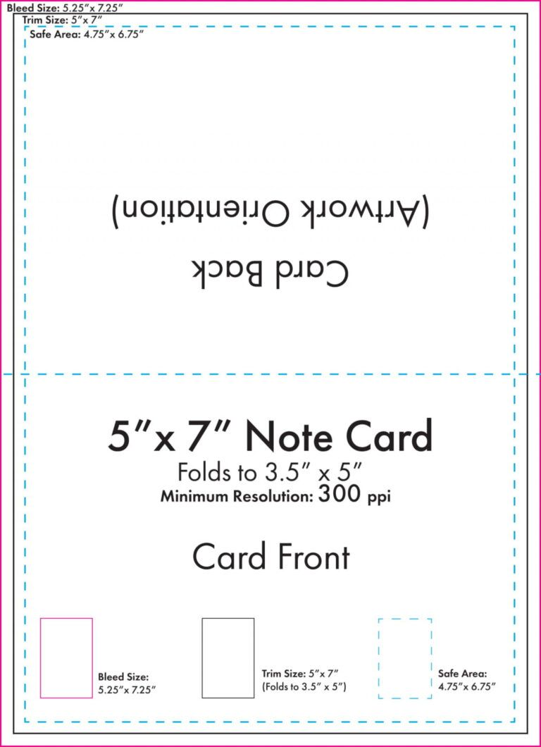011 Free Personalized Note Card Template Ideas 5x7notecard With 3 By 5 Index Card Template Note Card Template Greeting Card Template Folded Note Card