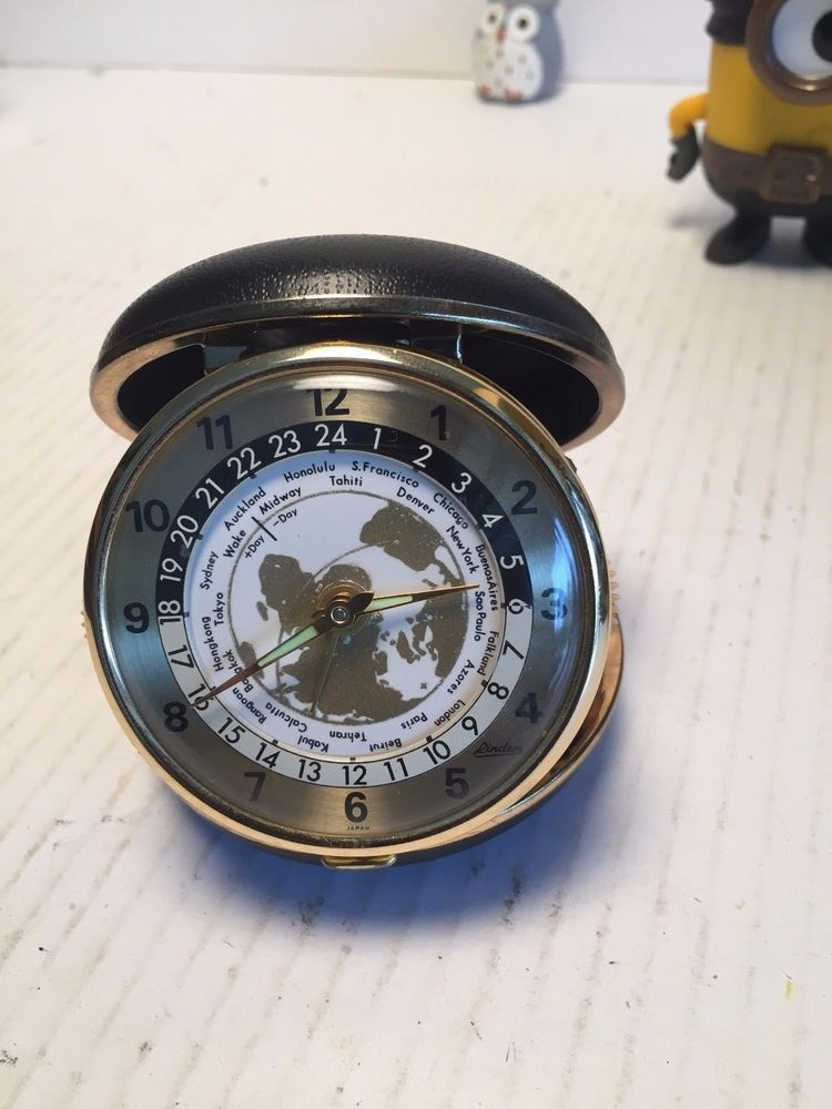 Linden travel alarm clock world map time zones vintage 50s japan linden travel alarm clock world map time zones vintage 50s japan gumiabroncs Image collections
