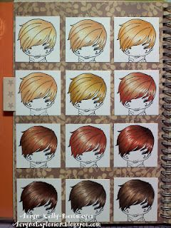 Page one of my hair colouring chart.