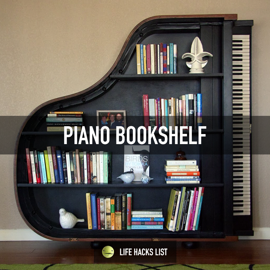 Here's a cool idea on what to do with an old piano. | Life ...