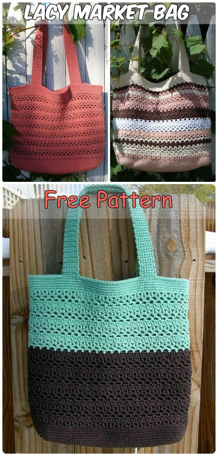 7 Brilliant Crochet Tote Grocery Bags Ideas Free Patterns ...