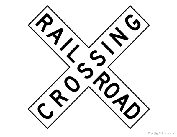 photo regarding Printable Trains identified as Printable Railroad Crossing Signal Grandblessings!!! Polar