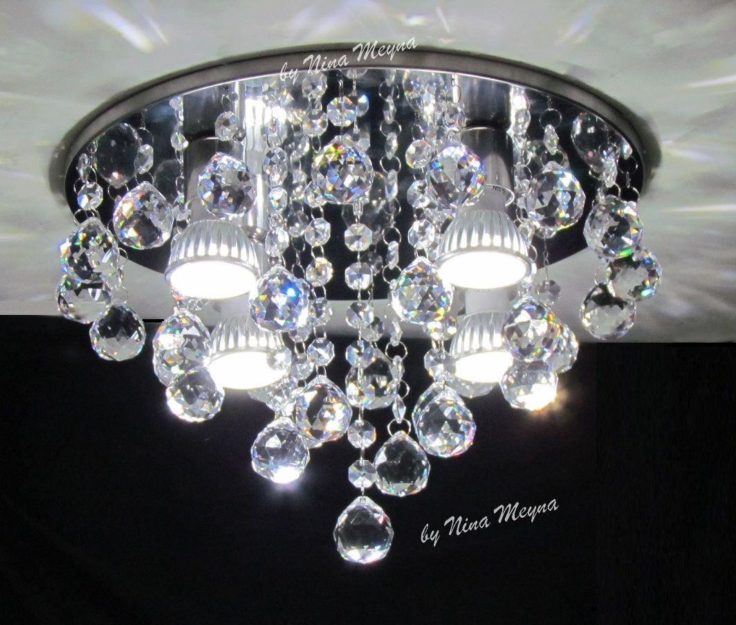 Lustre De Cristal - Plafon Pendente Arandela Abajur Cristais - R$ 339,20 no MercadoLivre