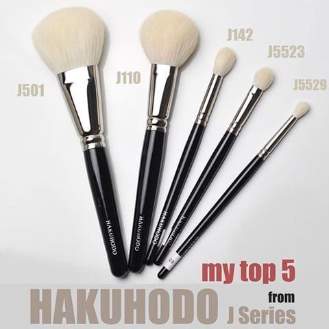 pinklc last name on makeup in 2019  hakuhodo brushes