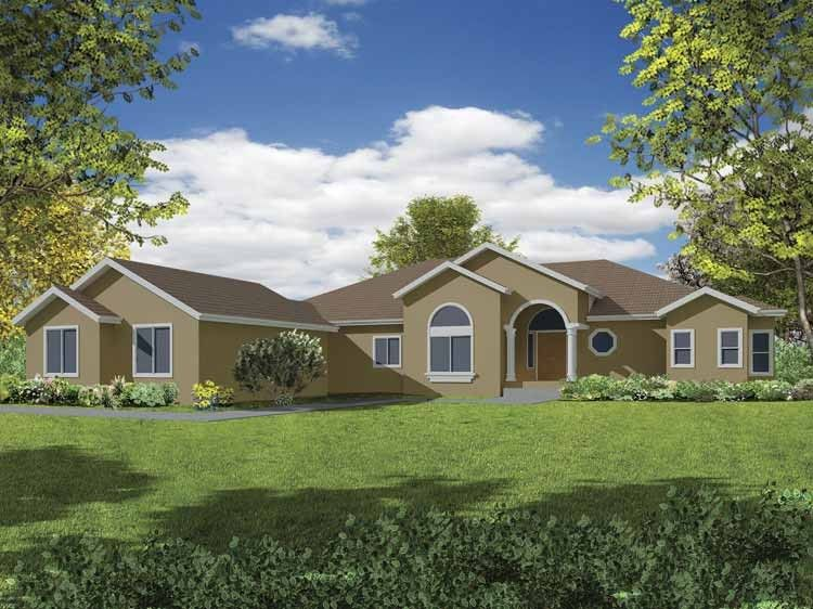 Mediterranean House Plan with 2834 Square Feet and 4 Bedrooms from