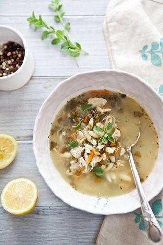 Lemon Chicken & Orzo Soup