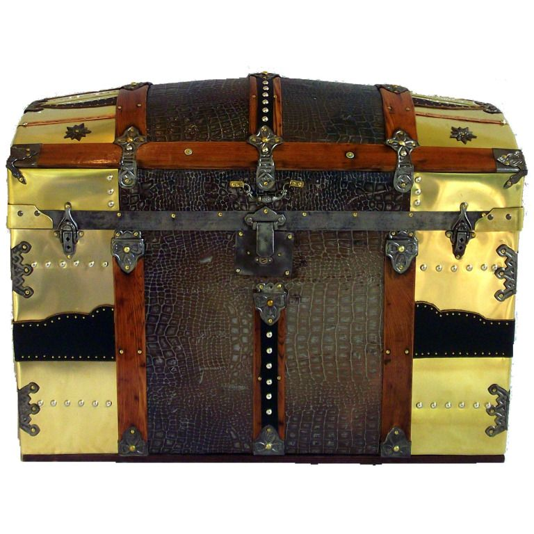 Latest Leather and Brass Camel Back Antique Trunk In 2019 - Inspirational trunk luggage New