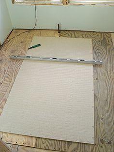 Installing Hardie Backer Board For Tiling A Bathroom Floor Small