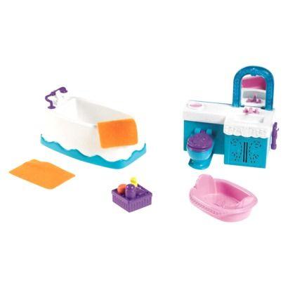 Fisher Price Dora The Explorer Playtime Together Deluxe Dollhouse Furniture Set Bathroom