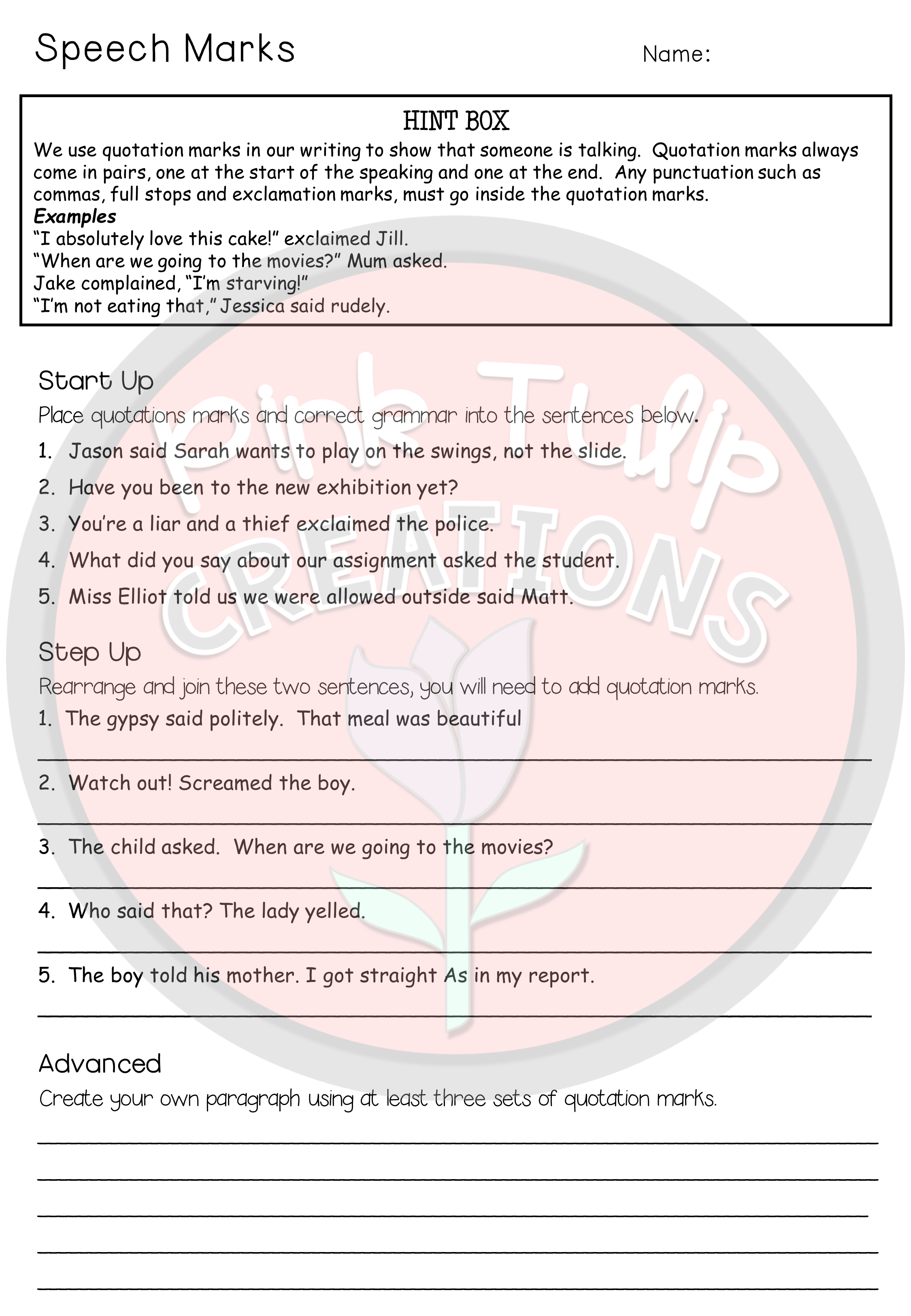 Grammar Worksheet Bundle