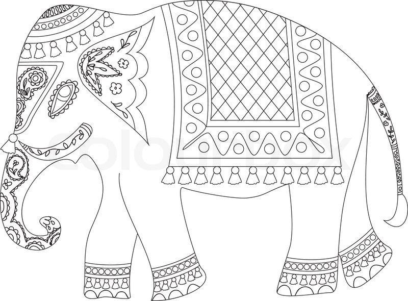 Stock-Vektor von \'Indischer Elefant\' | Reisen carmen | Pinterest ...