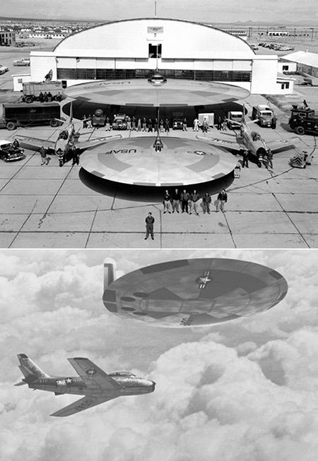 25a671a2eaa194 Recently declassified flying saucer from the US Air Force. | Geeky ...