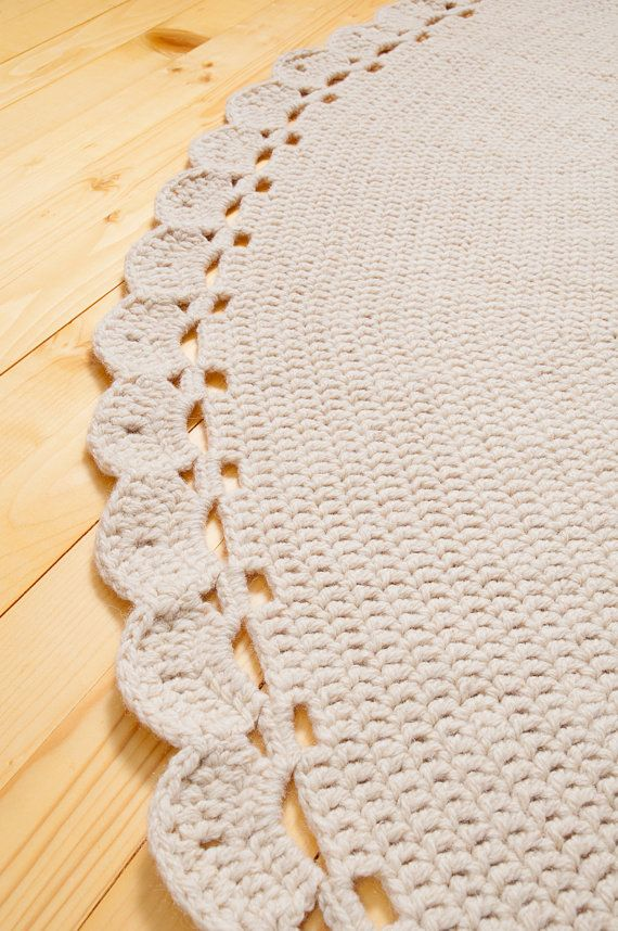 Giant Crochet Rug Rug Of Organic Wool Large Crochet Rug Round