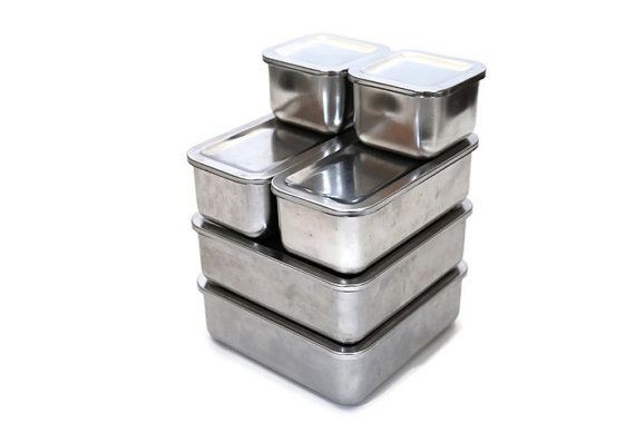 1801 Revere Ware Storage Boxes, Stainless Steel Storage, Revere Ware Storage  Boxes, Industrial