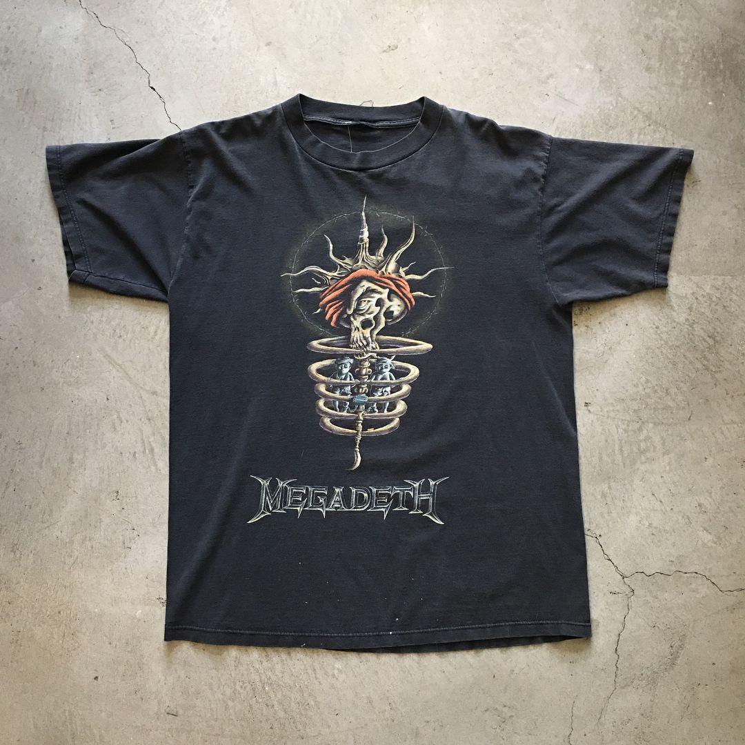 1995 megadeth youthanasia tour tshirt size xl measures