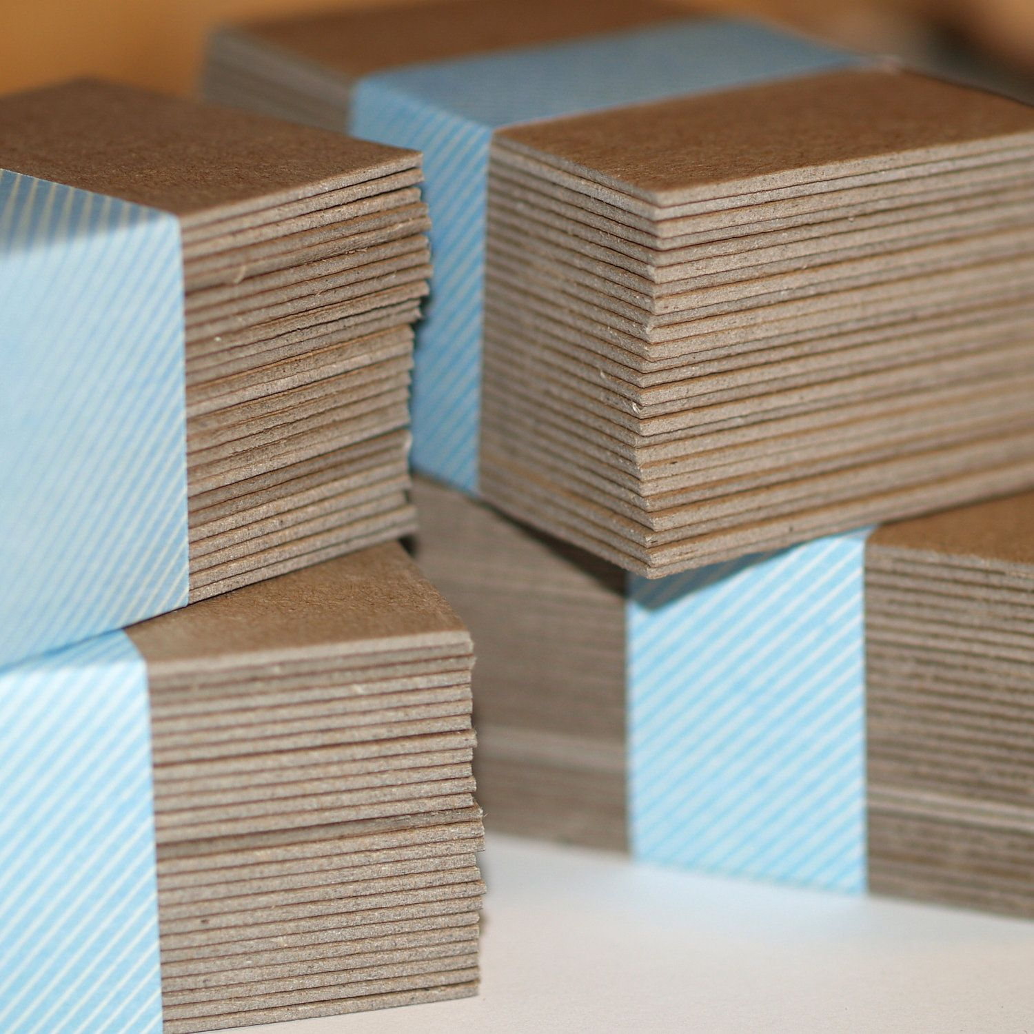 100 Business Card Blanks ... Heavyweight Chipboard . by time2split ...