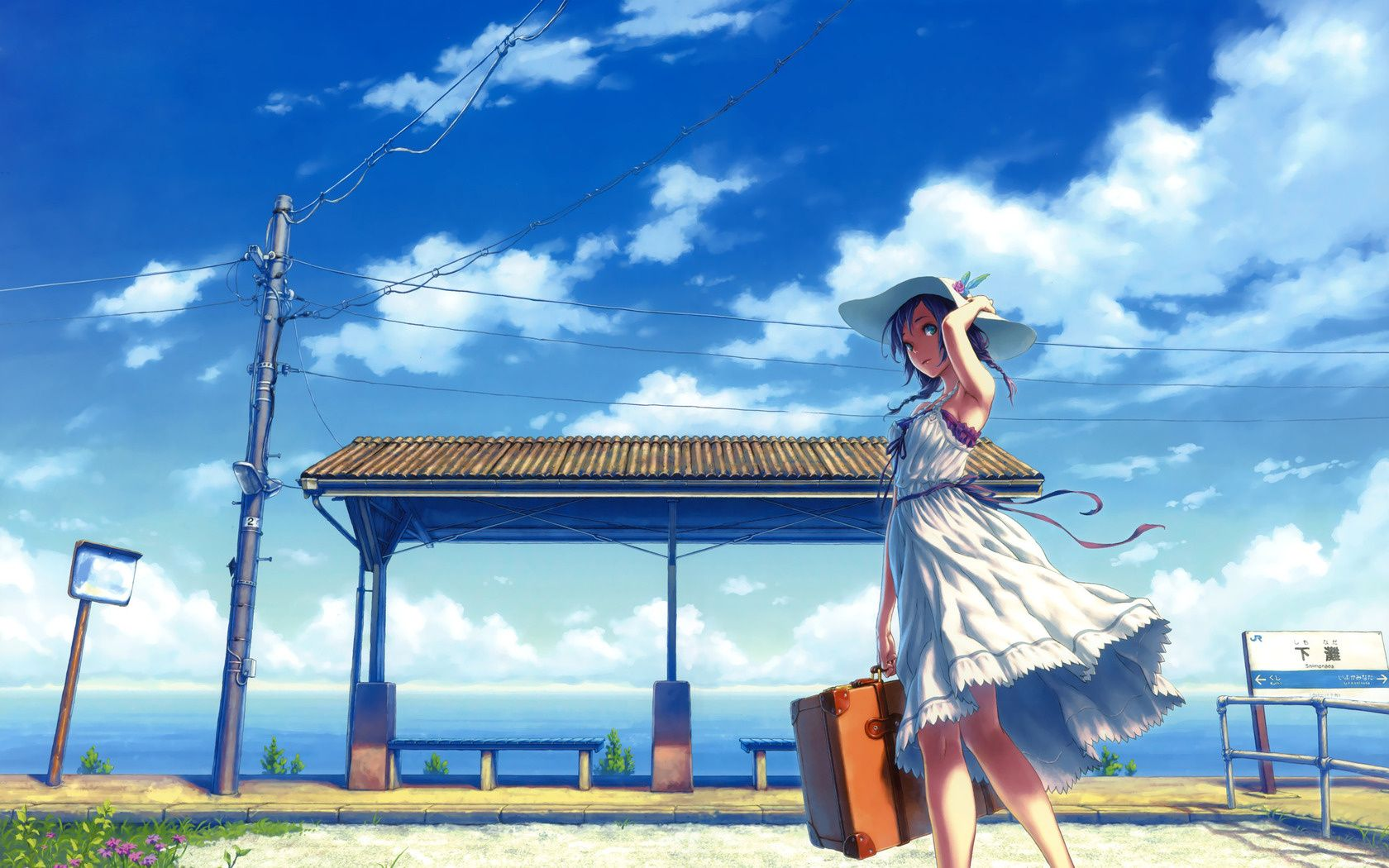 Pin By Oisris Wu On Nijigen Anime Summer Sky Anime Anime Scenery