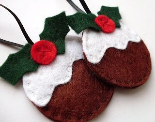 Pudding ornaments tutorial