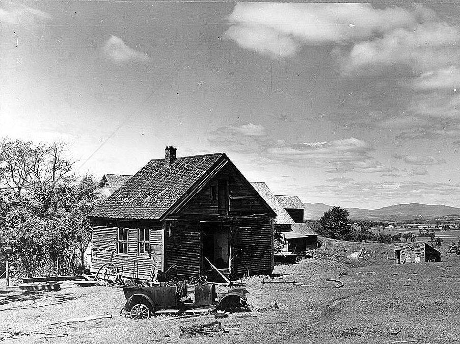 Old Abandoned Farmhouse Near Newport Vermont Carl Mydans For The Farm