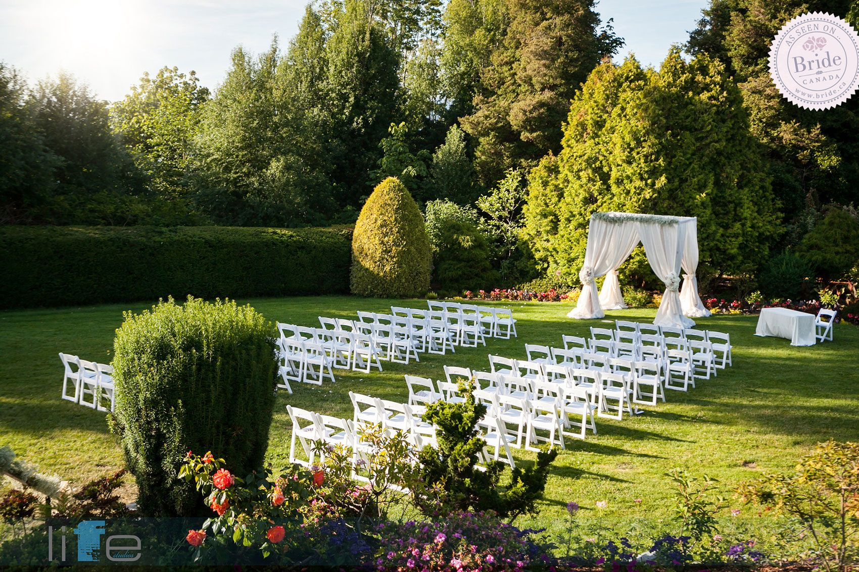 Outdoor Wedding Ceremony: The Beautiful Grounds Of Cecil Green Park House Offer One