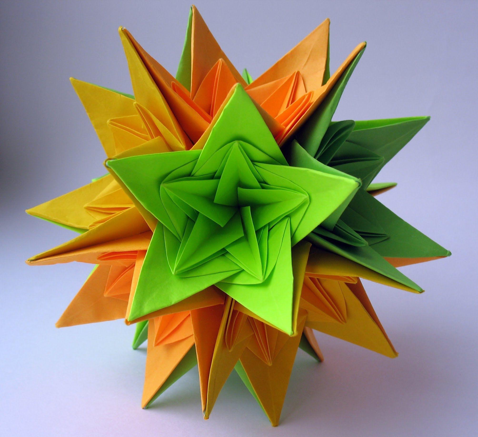 Photo of Christmas Kusudama Nordblumen by Irina Krivyakina – Yakomoga Origami tutorial