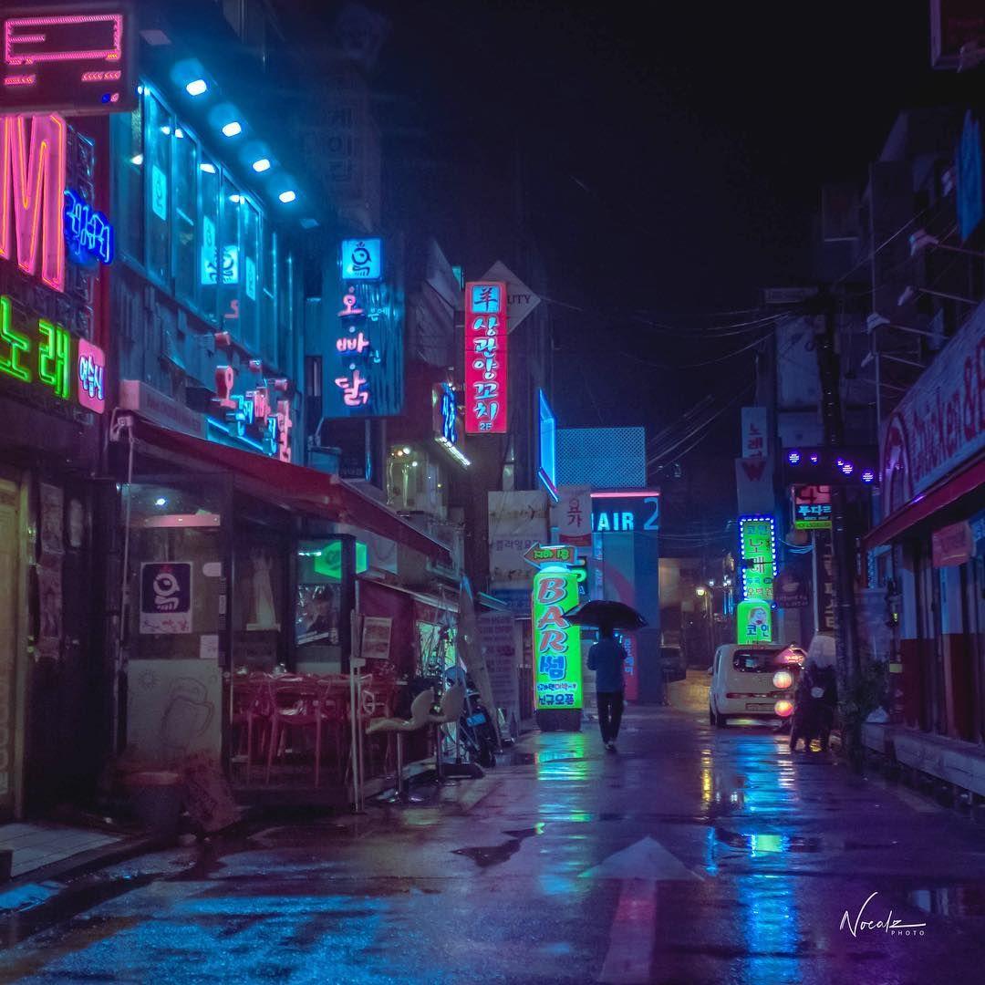 Tokyo Geisha Girl Wallpaper Background Cyberpunk Seoul South Korea Asia Scifi Night