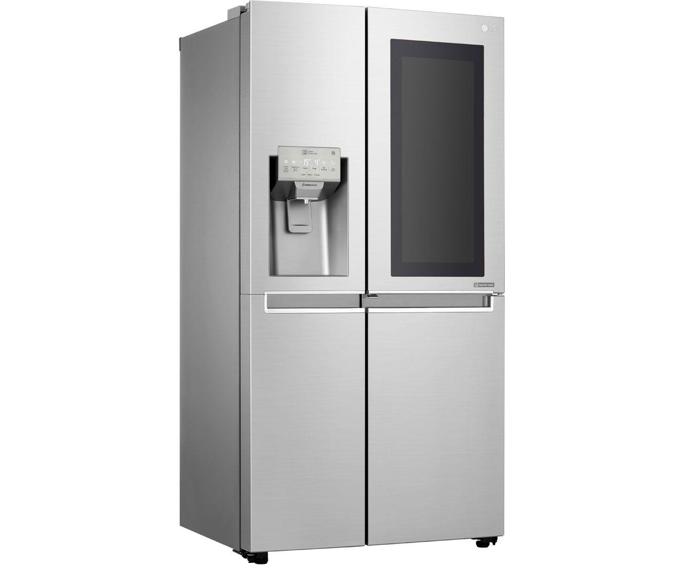 Amerikanischer Kühlschrank Mit Zapfanlage : Lg gsx neaz amerikanischer side by side mit wasserspender