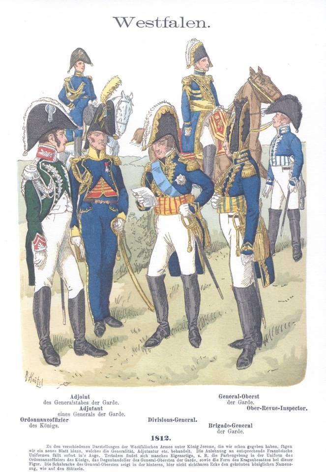 Band Iv 7 Westfalen Generalstab 1812 Guerres Napoleoniennes Tenues Militaires Soldat