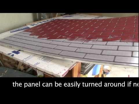 Making A Fake Brick Wall Out Of Styrofoam Insulation