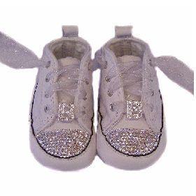 Initial Bling Converse Crib Shoes. Bling ConverseBaby ...