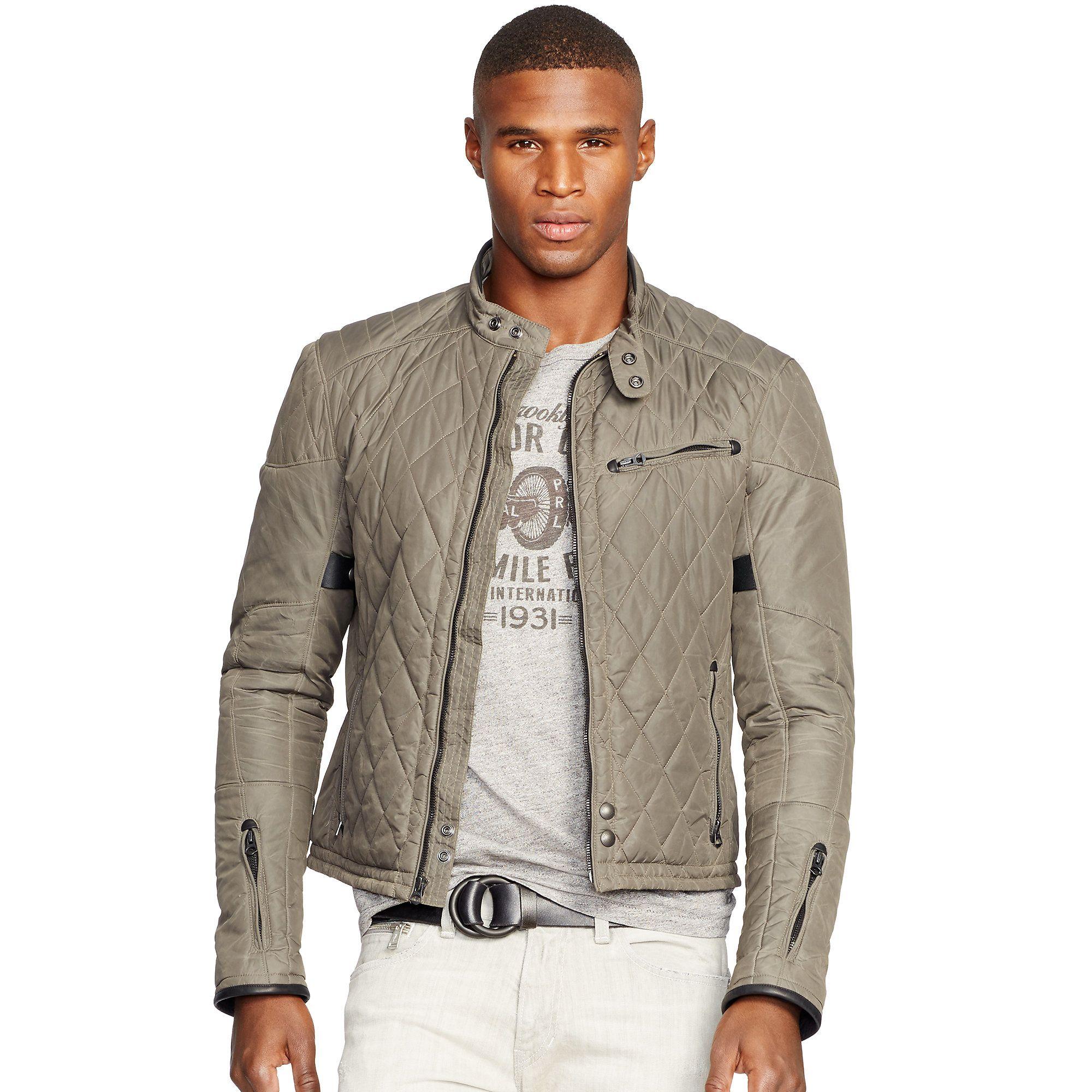 xl lauren jacket p sand ralph quilted mens quilt