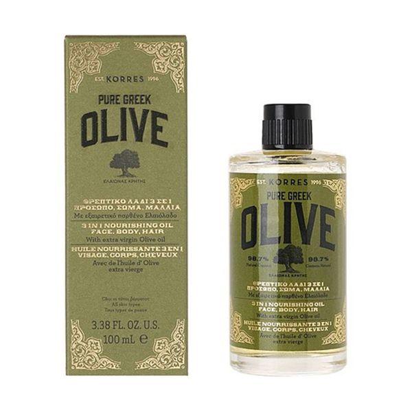 korres pure greek olive 3 in 1 nourishing oil extra virgin olive oil face