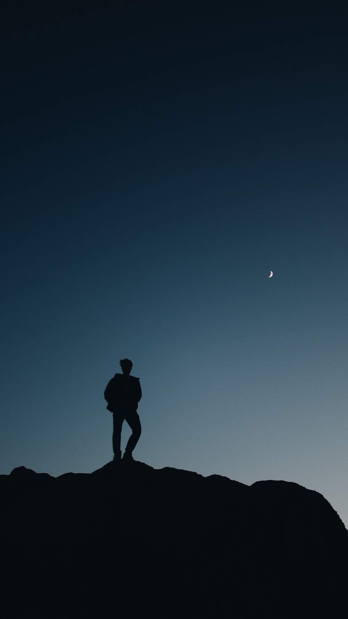 Adventure climb,mobile wallpaper,dark,sky,travel,hill