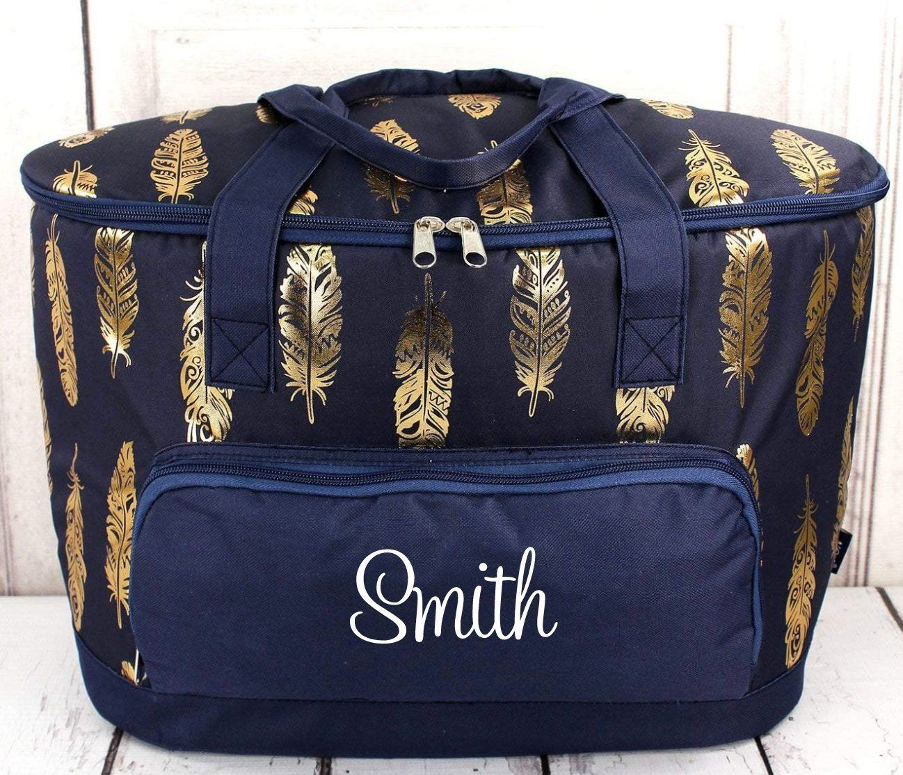 87aa7cff275ab Feather Print Extra Large Soft-Sided Cooler - Monogrammed Cooler ...