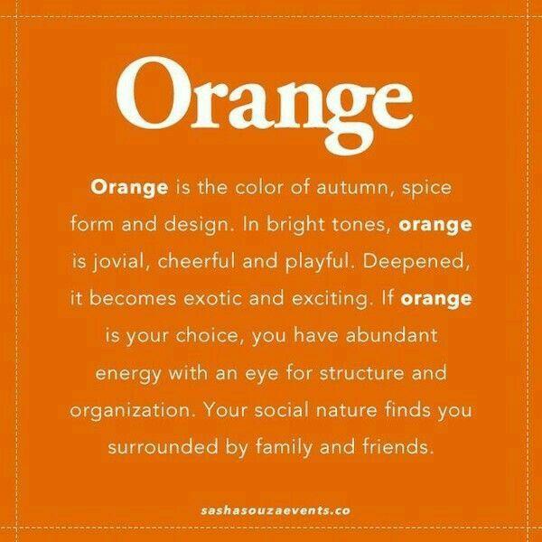 What Color Compliments Burnt Orange: Happy Orange.....