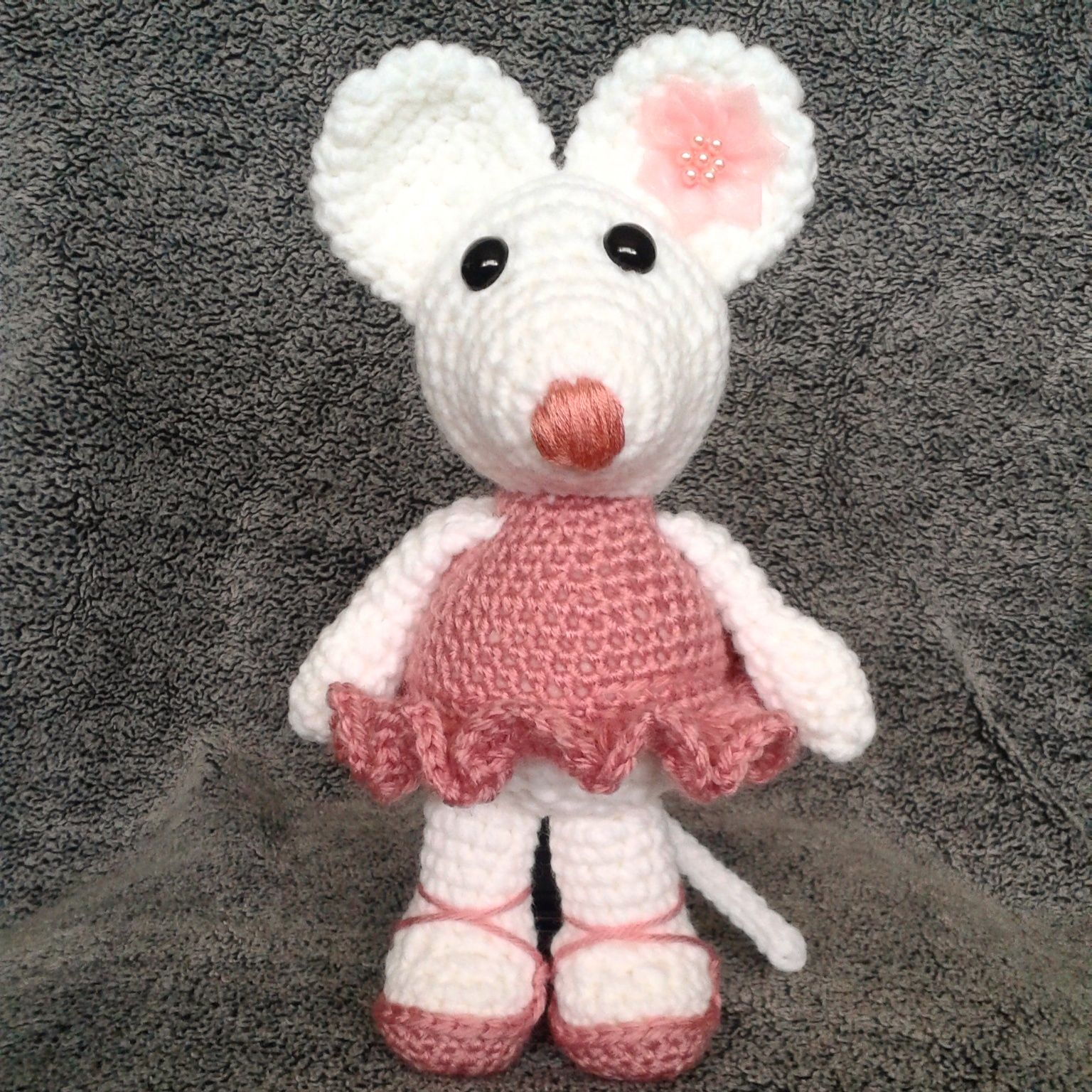 Amigurumi Ballerina Mouse. Pattern available for free at heartandsew ...
