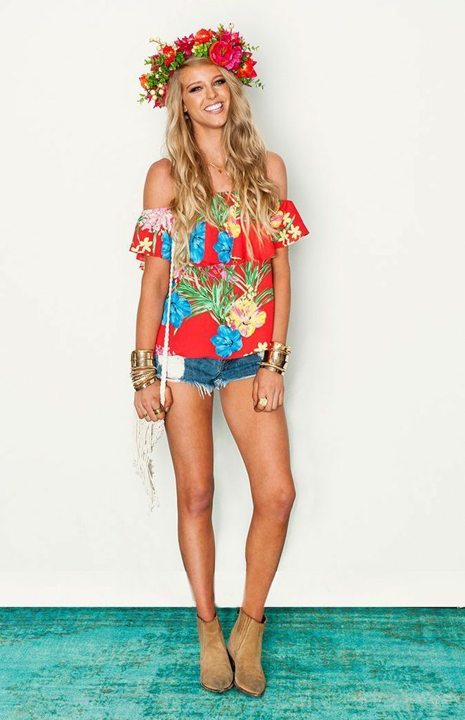Show me your mumu chiquita top flower crown into the hawaii outfits solutioingenieria Gallery