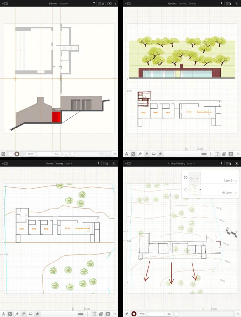 """Archipad"" Sketch and Doodle to Scale, New IOS App New"