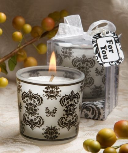 Damask Design Candle Wedding Favour / Table Decoration / Accessories