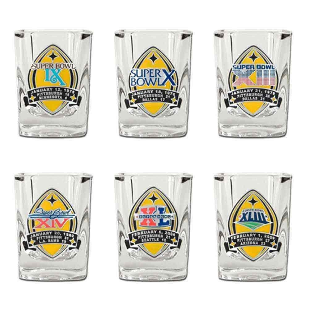 Pittsburgh Steelers 6Time Super Bowl Champs Shot Glass