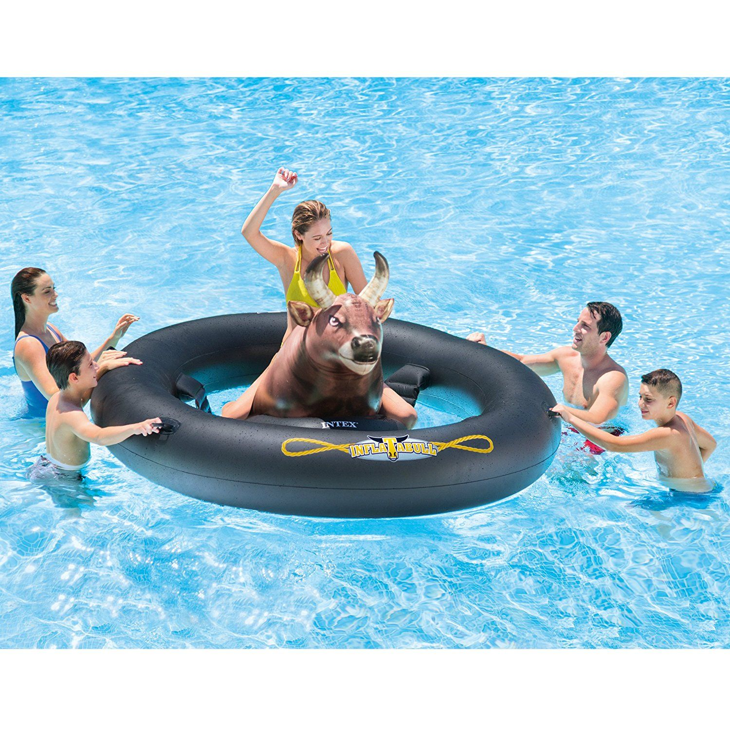 Inflat A Bull Is An Inflatable Bull Riding Pool Toy You ll Enjoy