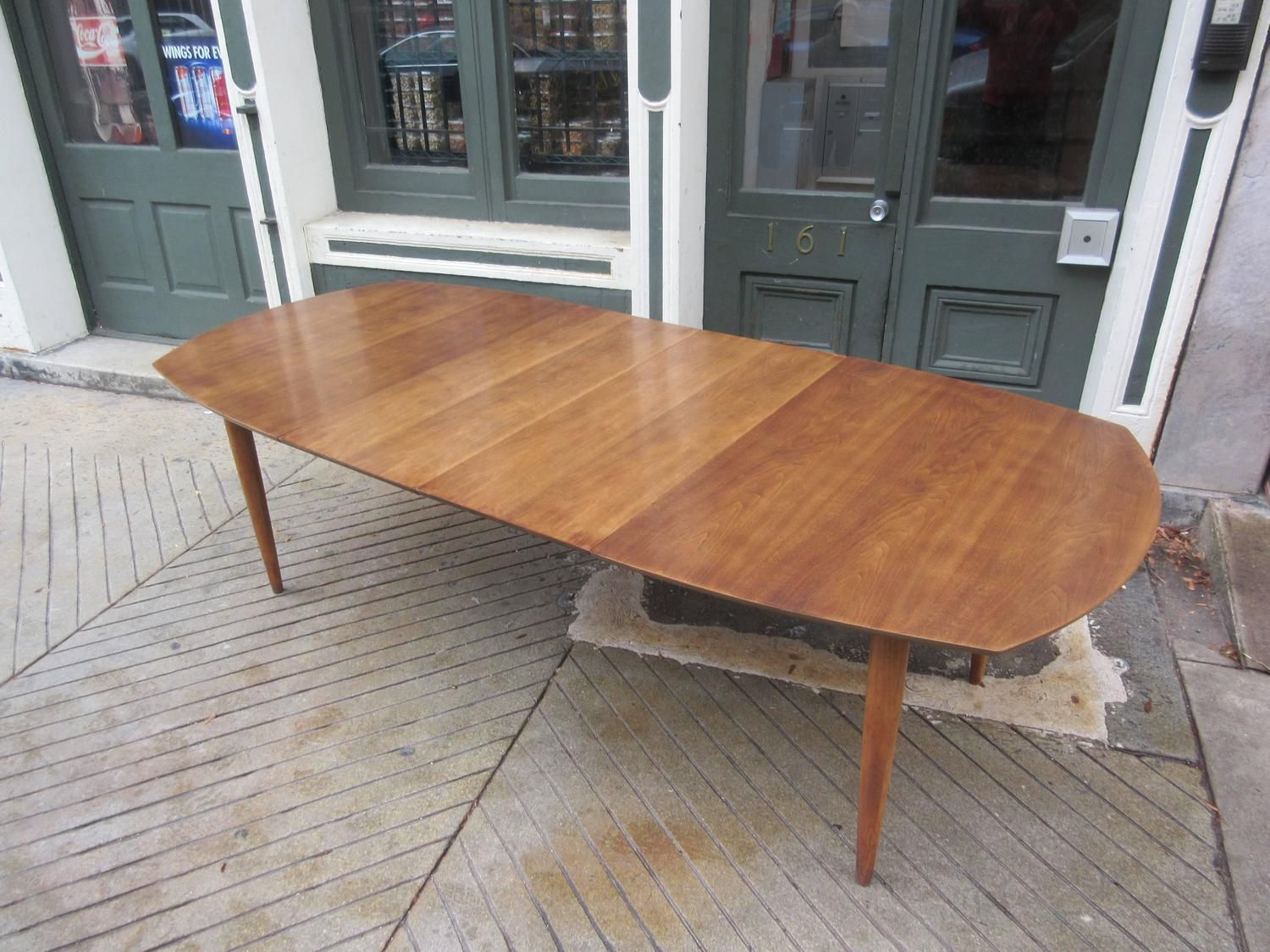 American Walnut Boat Shaped Dining Table 5 Dining Table Dining