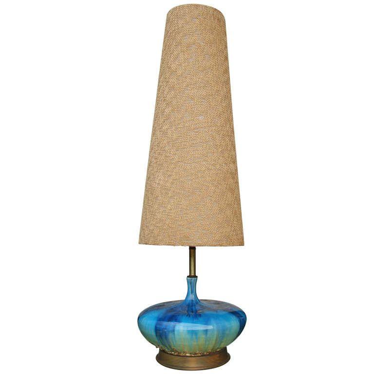 Extra Tall Mid Century Ceramic Lamp Ceramic Lamp Mid Century Lamp Mid Century Modern Lamps