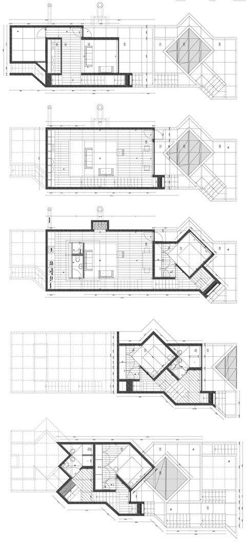 Grundrisse Architekturlayout Architekturzeichnungen Moderne Architektur Skizze Architektonische Prasentation Kleine Hauser Hausplane
