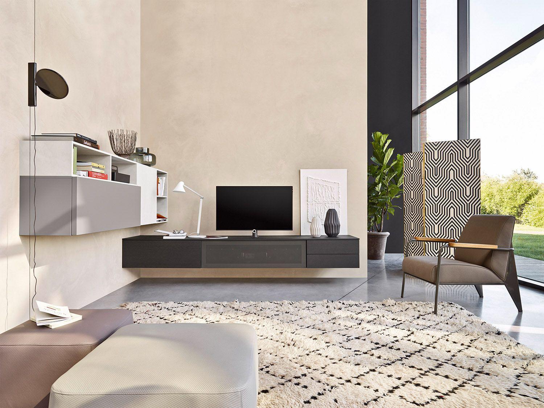 Die Neue Wohnwand Von Livitalia Aus Italien Passt Gut An Eine Oder Auch  Zwei Wänden Und