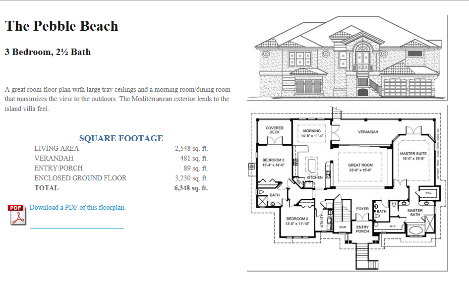 From Our Website A Great Room Floor Plan With Large Tray Ceilings Awesome Dining Room Floor Plans Design Decoration