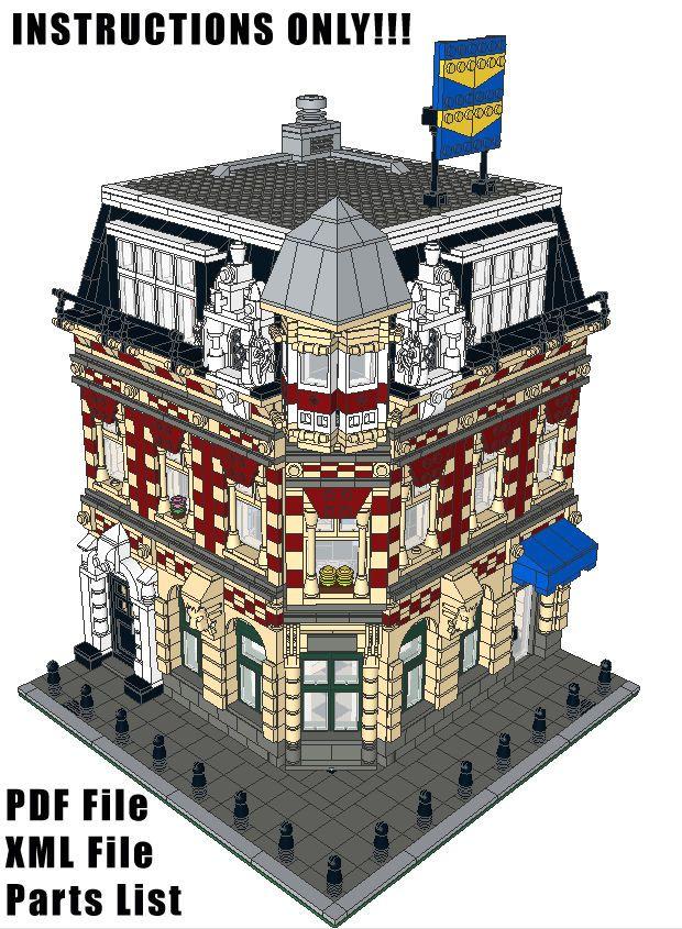 Lego Custom Modular Building Corner Shop Apartments Instructions