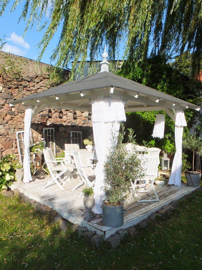 gartenpavillon aus holz nordic shabbychic kissen aus antikem leinen schwedenkronen. Black Bedroom Furniture Sets. Home Design Ideas