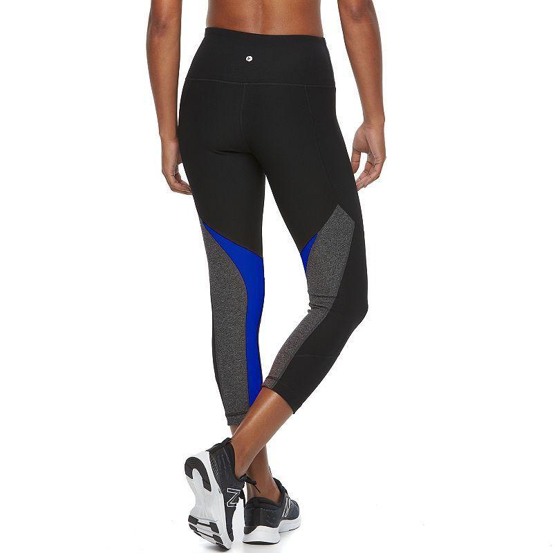 a1239d6d75 Women's 90 Degree by Reflex Makenzie High Waist Capri Yoga Leggings, Size:  Small, Black